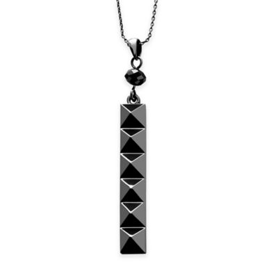 Rebel Waterford® Gunmetal 17-Inch Chain Ella B Punk Stud Pendant Necklace