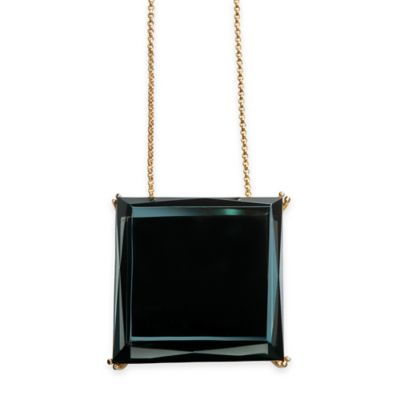 Waterford® Rebel Gold Green Glass 17-Inch Chain Lulu Pendant Necklace