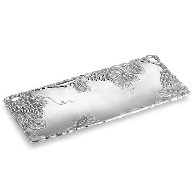 Arthur Court Designs Grape 19-Inch L x 9-Inch W Oblong Tray