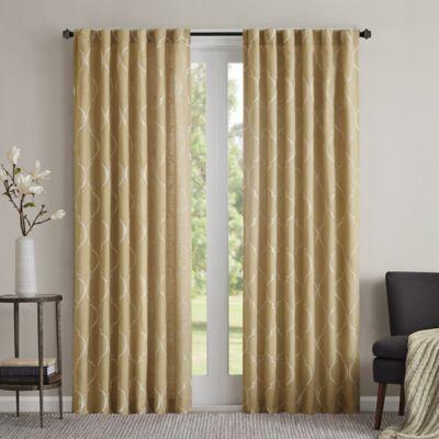 Regency Heights Lexi 63-Inch Rod Pocket Window Curtain Panel in Yellow