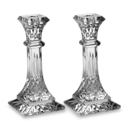 Waterford® Lismore Crystal 8-Inch Candlestick Pair