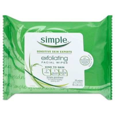 Simple® 25-Count Exfoliating Facial Wipes