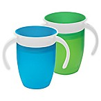 Munchkin® Miracle® 360º 2-Pack 7 oz. Trainer Cups in Green/Blue