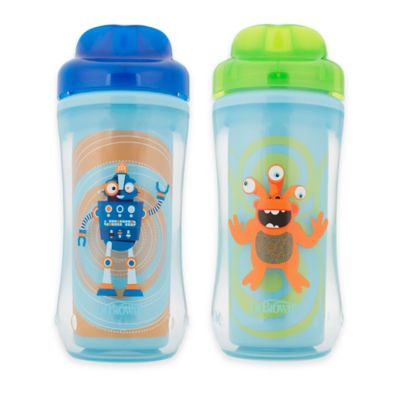 Dr. Browns® 2-Pack 10 oz. Spoutless Insulated Cups in Blue