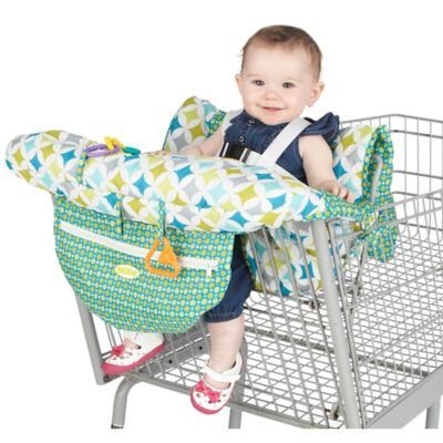 Nuby™ Shopping Cart and High Chair Cover in Green/White