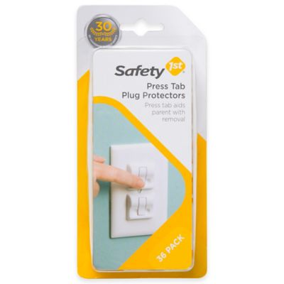 Safety 1st® 36-Pack Press Tab Plug Protectors in White