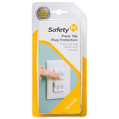 Safety 1st 174 36 Pack Press Tab Plug Protectors In White