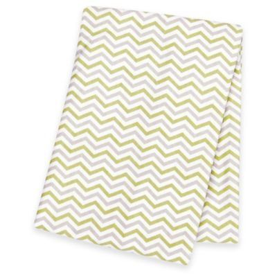 Trend Lab® Chevron Deluxe Flannel Swaddle Blanket in Sage/Grey
