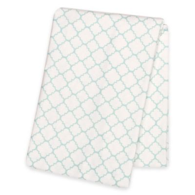 Trend Lab® Quatrefoil Deluxe Flannel Swaddle Blanket in Mint