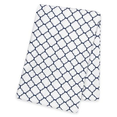 Trend Lab® Quatrefoil Deluxe Flannel Swaddle Blanket in Navy