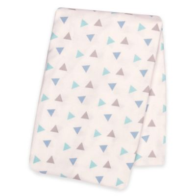 Trend Lab® Triangles Deluxe Flannel Swaddle Blanket in Mint