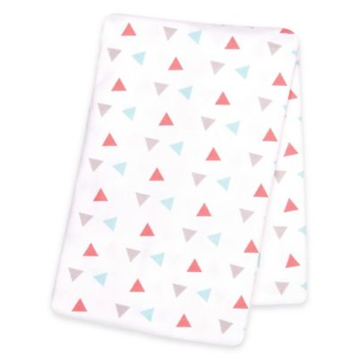 Trend Lab® Triangles Deluxe Flannel Swaddle Blanket in Coral