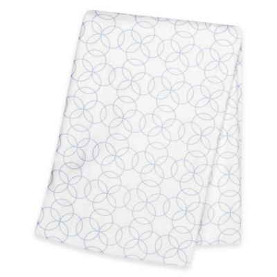 Trend Lab® Circles Deluxe Flannel Swaddle Blanket in Blue