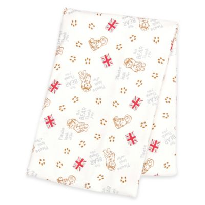 "Trend Lab® Paddington Bear ""Please Look After This Bear"" Deluxe Flannel Swaddle Blanket"
