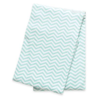 Trend Lab® Chevron Deluxe Flannel Swaddle Blanket in Mint