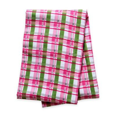 Trend Lab® Plaid Deluxe Flannel Swaddle Blanket in Pink