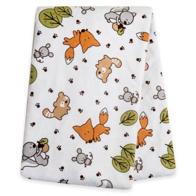 Trend Lab® Friendly Forest Deluxe Flannel Swaddle Blanket