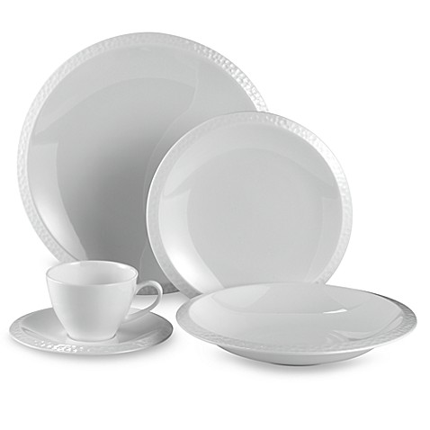 Mikasa® Sasaki®  Sculpture White 5-Piece Place Setting