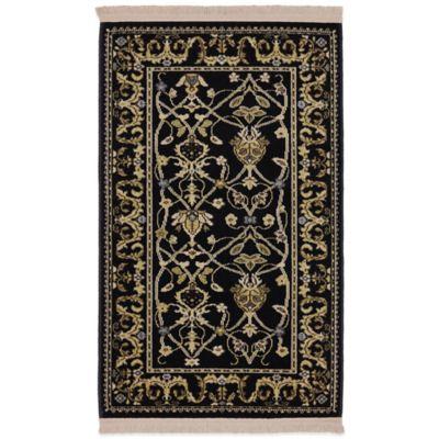 Karastan English Manor William Morris 5-Foot 7-Inch x 7-Foot 11-Inch Rug in Black