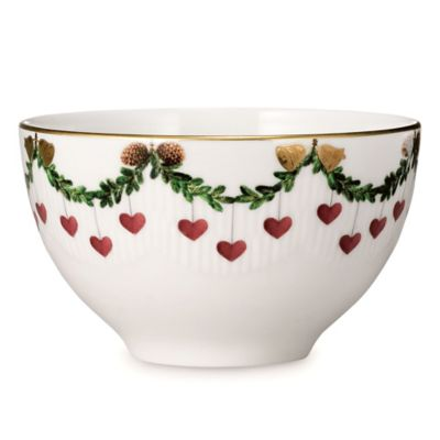 Royal Copenhagen Star Fluted Christmas Chocolate Bowl