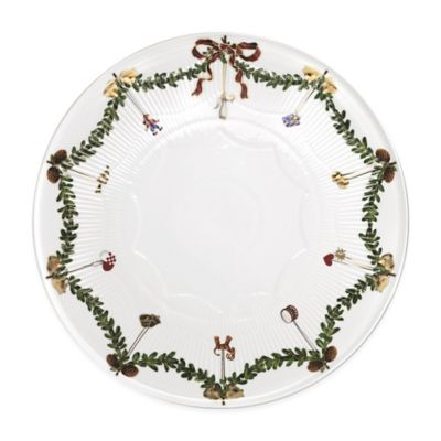 Royal Copenhagen Star Fluted Christmas Cake Plate