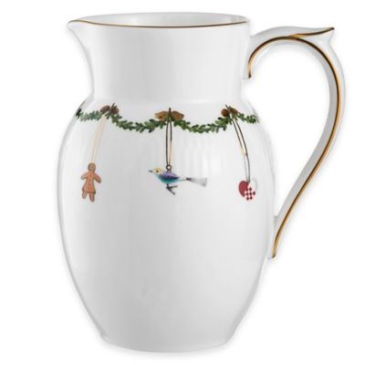 Royal Copenhagen Star Fluted Christmas Pitcher