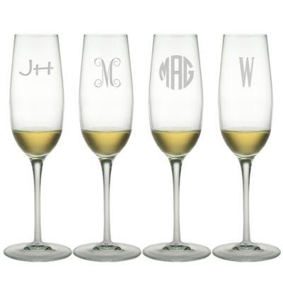 Susquehanna Glass Champagne Flutes (Set of 4)