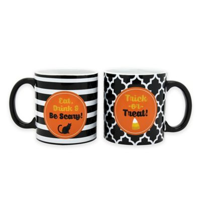 Halloween Glitter Mugs (Set of 2)