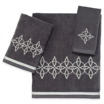 Avanti Sophia Fingertip Towel in Granite