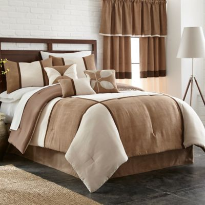 Carlton 7-Piece Full Comforter Set in Cocoa