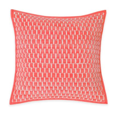 Southern Tide® Lagoon Square Throw Pillow in Coral