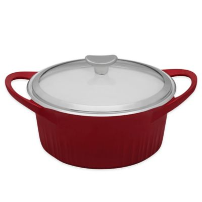 CorningWare® 3.5 qt. Covered Dutch Oven in Red