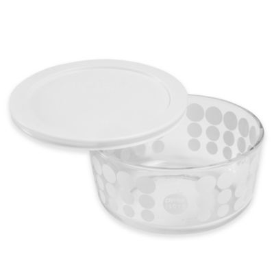 Pyrex® 100th Anniversary 4-Cup Round Storage in White