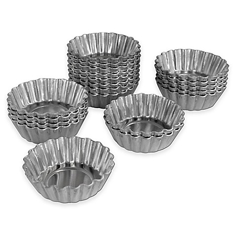 Fat Daddio S Proseries Mini Tartlet Pans Set Of 20 Bed