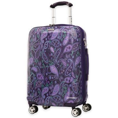 Purple Paisley Luggage Carry Ons