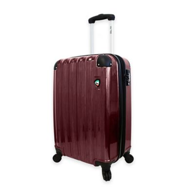 Mia Toro ITALY Spazzolato Lucido 21-Inch 8-Wheel Expandable Carry On Spinner in Burgundy