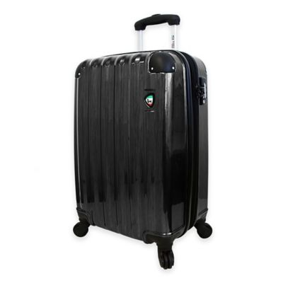 Mia Toro ITALY Spazzolato Lucido 25-Inch 8-Wheel Expandable Spinner in Black
