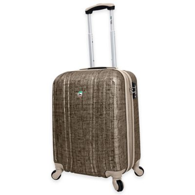 Mia Toro ITALY Macchiolina Abrasa 20-Inch 8-Wheel Expandable Carry On Spinner in Gold