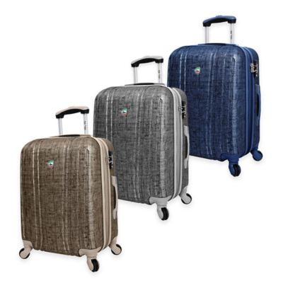 Mia Toro ITALY Macchiolina Abrasa 24-Inch 8-Wheel Expandable Spinner in Blue