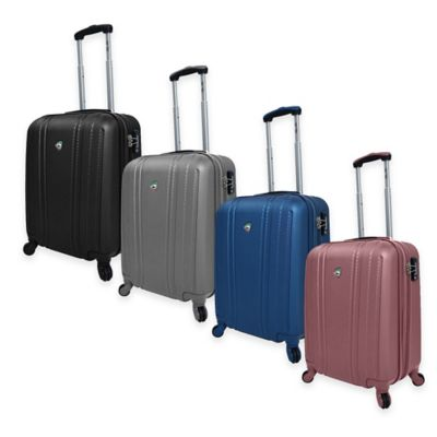 Mia Toro ITALY Perla 20-Inch 8-Wheel Expandable Carry On Spinner in Pink