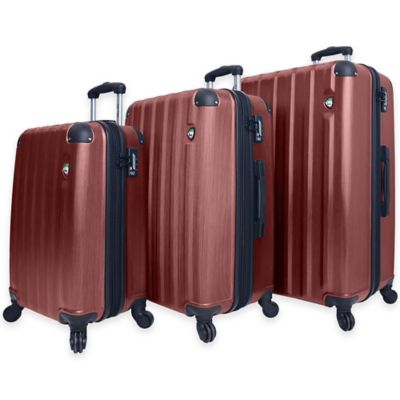 Mia Toro Lega Spazzolato 3-Piece 8-Wheel Expandable Spinner Set in Silver