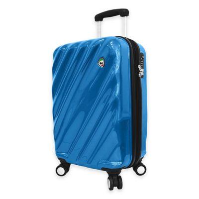 Mia Toro ITALY Onda Fusion 24-Inch 8-Wheel Expandable Spinner in Blue