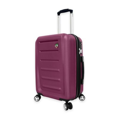 Mia Toro ITALY Moderno 20-Inch Carry On 8-Wheel Expandable Spinner in Burgundy