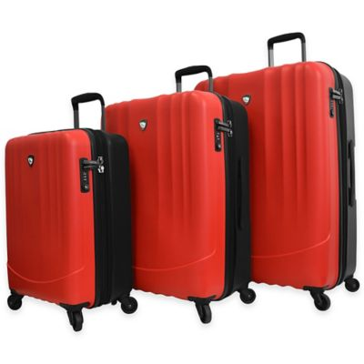 Mia Toro Polipropilene 3-Piece 4-Wheel Expandable Spinner Set in Orange