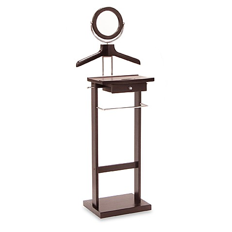 Buy valet stand with mirror and drawer from bed bath beyond - Valet de chambre ...