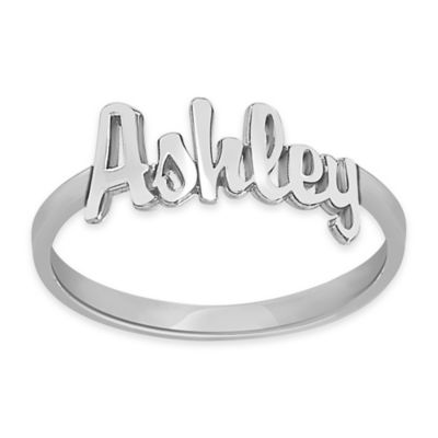 Alison & Ivy® Sterling Silver 18mm Size 9 Ladies' Script Name Ring