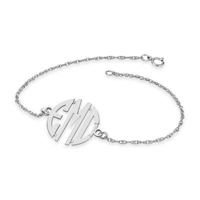 Alison & Ivy® Sterling Silver 7.25-Inch Ladies' 20mm Block Bracelet