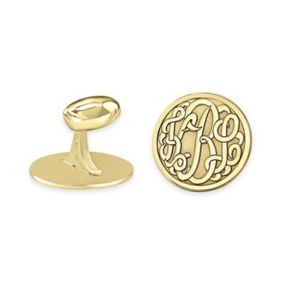 24K Rose Gold-Plated Sterling Silver Round Cufflinks