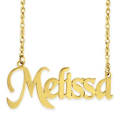 Sterling Silver 18-Inch Chain Polished Nameplate Necklace