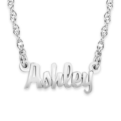 Alison & Ivy® 10K Yellow Gold Mini Nameplate Necklace